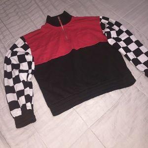 Forever 21 Collar Quarter Zip Sweater